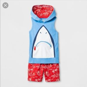 Genuine Kids OshKosh shark hoodie set toddler 12m